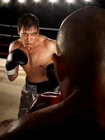 "Holt McCallany in the role of boxer Patrick ""Lights"" Leary"